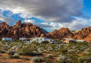The setting for Atlatl Rock Campground is spectacular!
