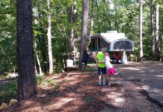 Campsites 1-13 Area @ Clear Springs Campground - a USFS campground near Roxie, MS between Bude and Natchez, MS off Hwy. 84/98.