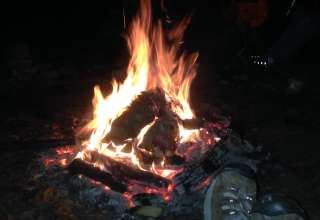 not much better than a campfire, by the lake, in the middle of a forest. pass the jar. ;-)