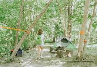 tent forest people