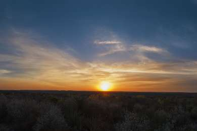 Sunrise over the Roadrunner flat primitive campground in April 2014.