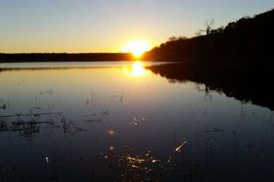 Sunset over Lake Meridian