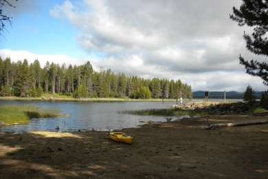 Great camping spot with your own beach to launch from.