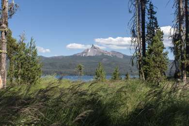 View of Mount Thielsen from the Campground.
