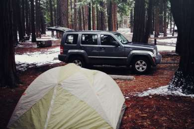 If you can brave the temperatures, camping at Upper Pines in the winter will leave you with the campground to yourself.