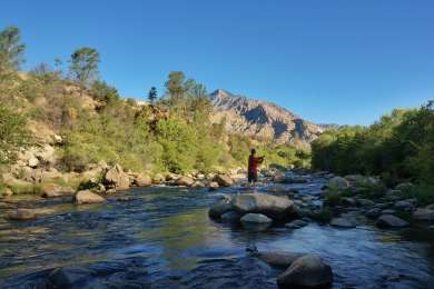 This campsite is right on the Kern River so it's a perfect place to stay if you want to wake up and catch your breakfast! A great spot for fly fishing or tubing down the river.