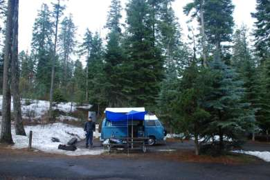 Early April camping