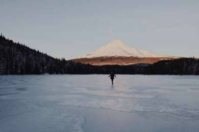 Frozen Trillium lake on New Years day, 2015