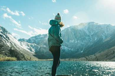 This campground is right on the lake, so you're surrounded by stellar views. It's a great fishing spot during the summer and ideally located if you're in the Eastern Sierras hitting up all the hot pools.