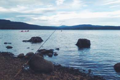 This was the day-use area a half mile down. AWESOME rainbow trout fishing (we caught five)!