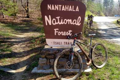 Tsali trailhead about 1/10th mile from campground.