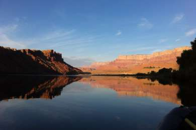 Sleeping on the boat at Lees Ferry, excited to start a 16 day journey through the heart of the Grand Canyon.