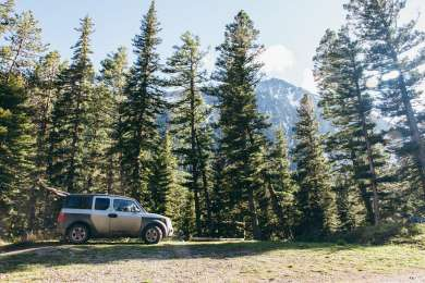 Our campsite spot.