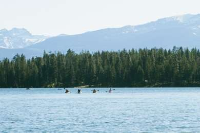 Kayakers on Holland Lake