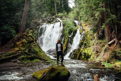 National Creek Falls near Hamaker Campground truly makes you  feel small. Being out in the deep wilds of Oregon under the shadow of a huge creek which has made its raging path through the Siskiyou National Forest is an experience you need to have!