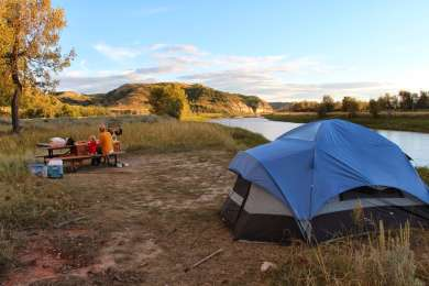 So cool to be able to camp right on the river.