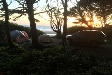 View from campsite A20's