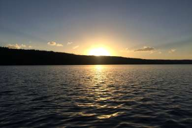 Sunset over Lewis Lake