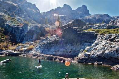 Highly recommend taking your paddle board to Upper Sardine Lake