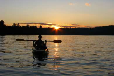 Sunset paddle on Limekiln Lake