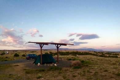 Very open campground sites but the views go on for miles!