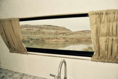 Enjoy the views of the Colorado River right outside your campsite.