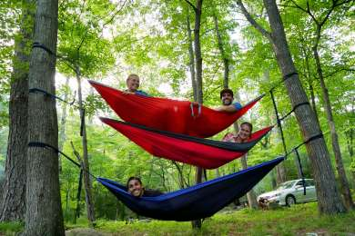 Just hanging with our buds! Lots of good hammock trees in  most sites.