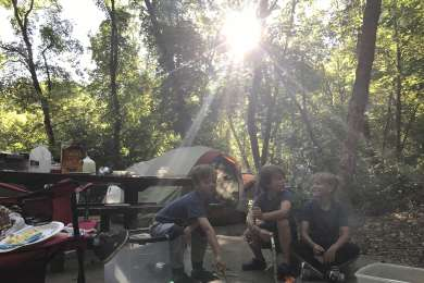 Close to town and perfect escape for a quick overnight camping trip.