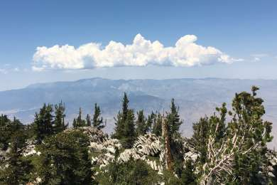 Cloud hat over San Gorgonio
