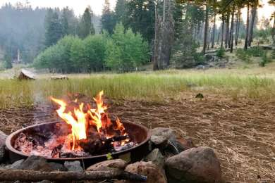 Morning fire and view of quakies.