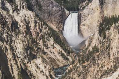 Gorgeous upper Yellowstone falls nearby attraction