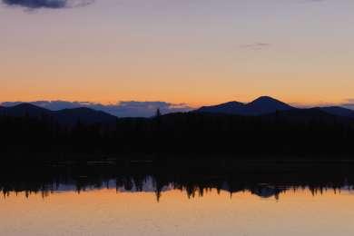 Sunset reflections on Echo Lake