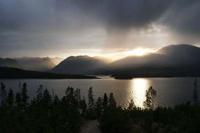 View of Dillon Reservoir from Prospector Campground