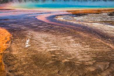 Grand Prismatic Spring at Midway Geyser Basin.