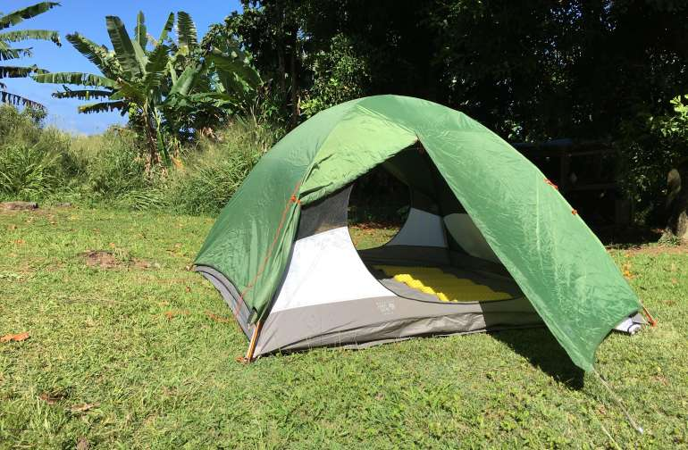 Don't have your own tent?  We also rent solid Mountain Hardwear 2 and 4 person backpacking tents for use at the hostel and beyond.