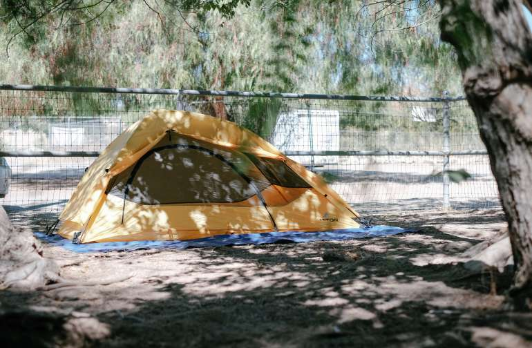 My site in the gated  picnic area.