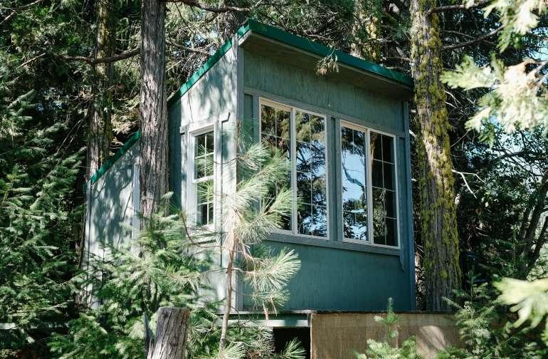 Treehouse through the trees!