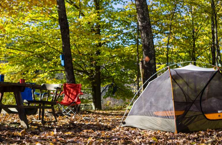 Tents, vans and RVs are all welcome at Onion River Campground.