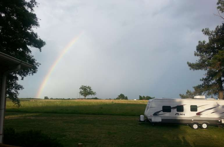 Somewhere over the rainbow there's a camping spot.