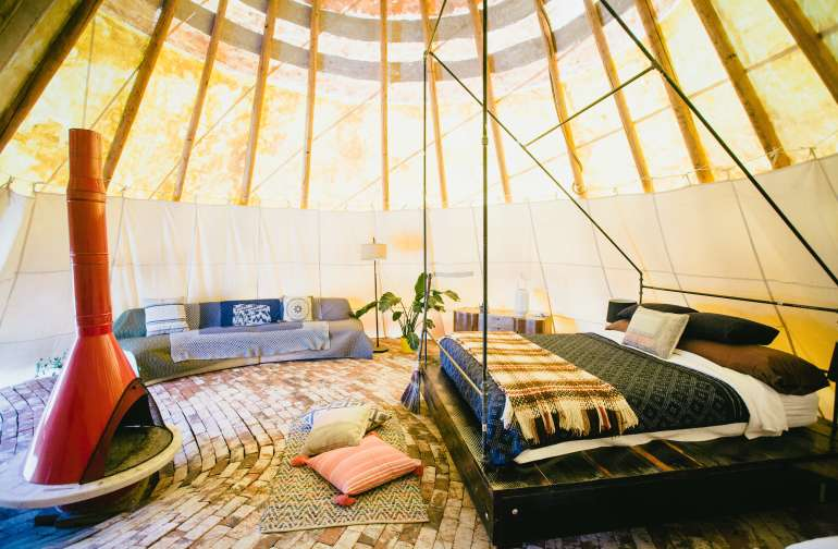 The Large Tipi's interior