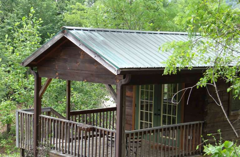 The Smoky Mountains Cabin...one of six cabins on our 12-acre  property that also includes an historic five room B%B Inn.