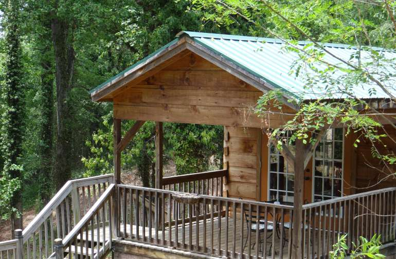The Blue Ridge Mountains Cabin..one of six cabins on our 12-acre property that also includes an historic five room B&B Inn.