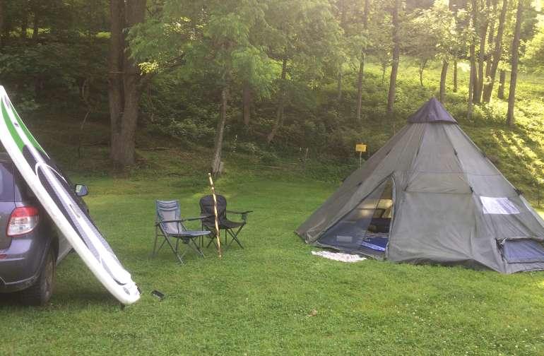 The Tipi Tent at Tawney Farm