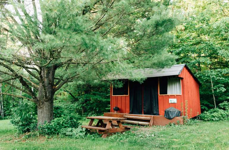 our cute little rustic cabin