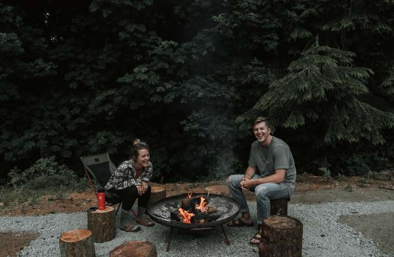 Laughter around the fire