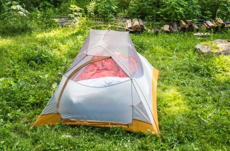 Comfy tent site