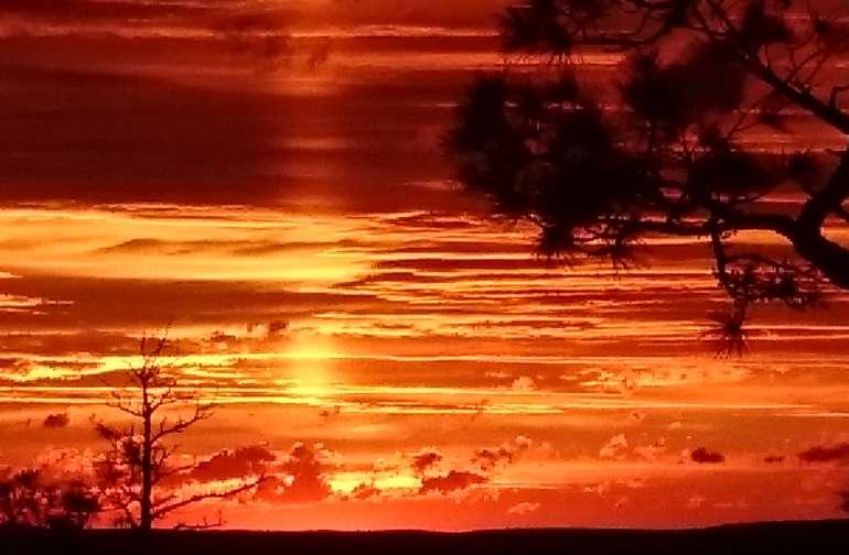 Breathtaking sunset.