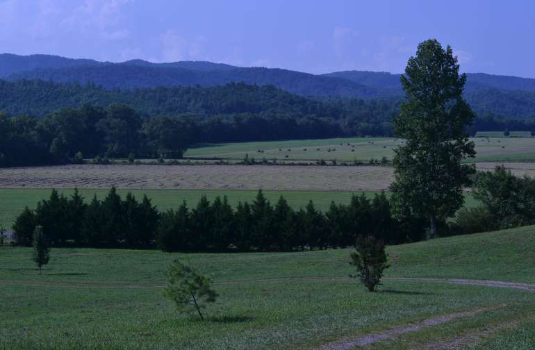 View of the Smoky Mountains from the Rusty Acorn Farm