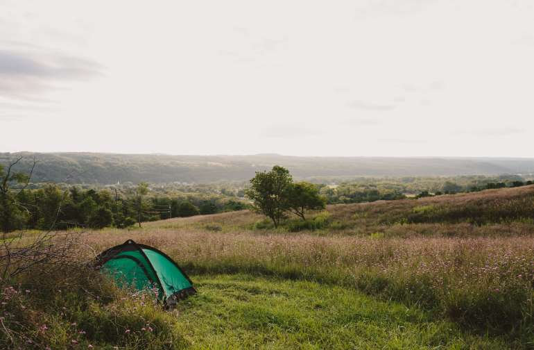 A classic Fingerlakes view into the valley without having to leave the site!