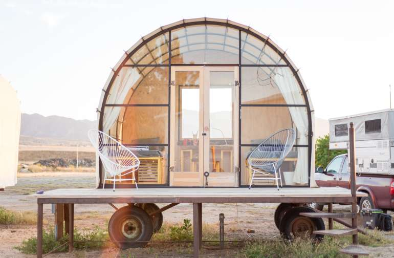 18. The Quonset Shelter has two single beds. Perfect for two traveling friends. (Photo by Madison Kotack)